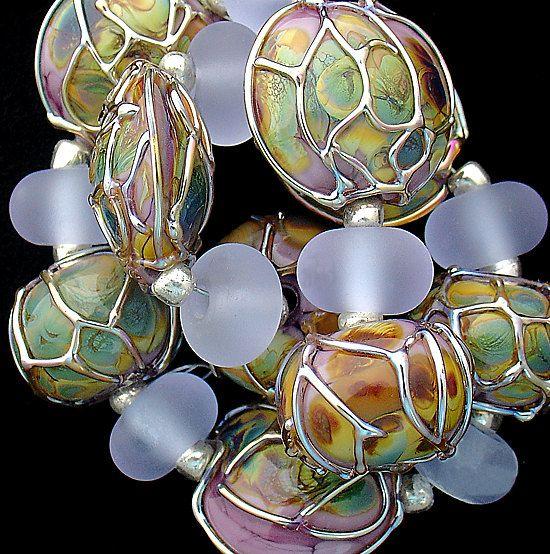 DSG Beads Handmade Organic Lampwork GlassMade To by debbiesanders,