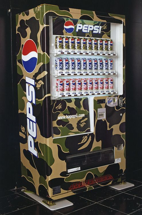 "Image result for bape x pepsi vending machine"""