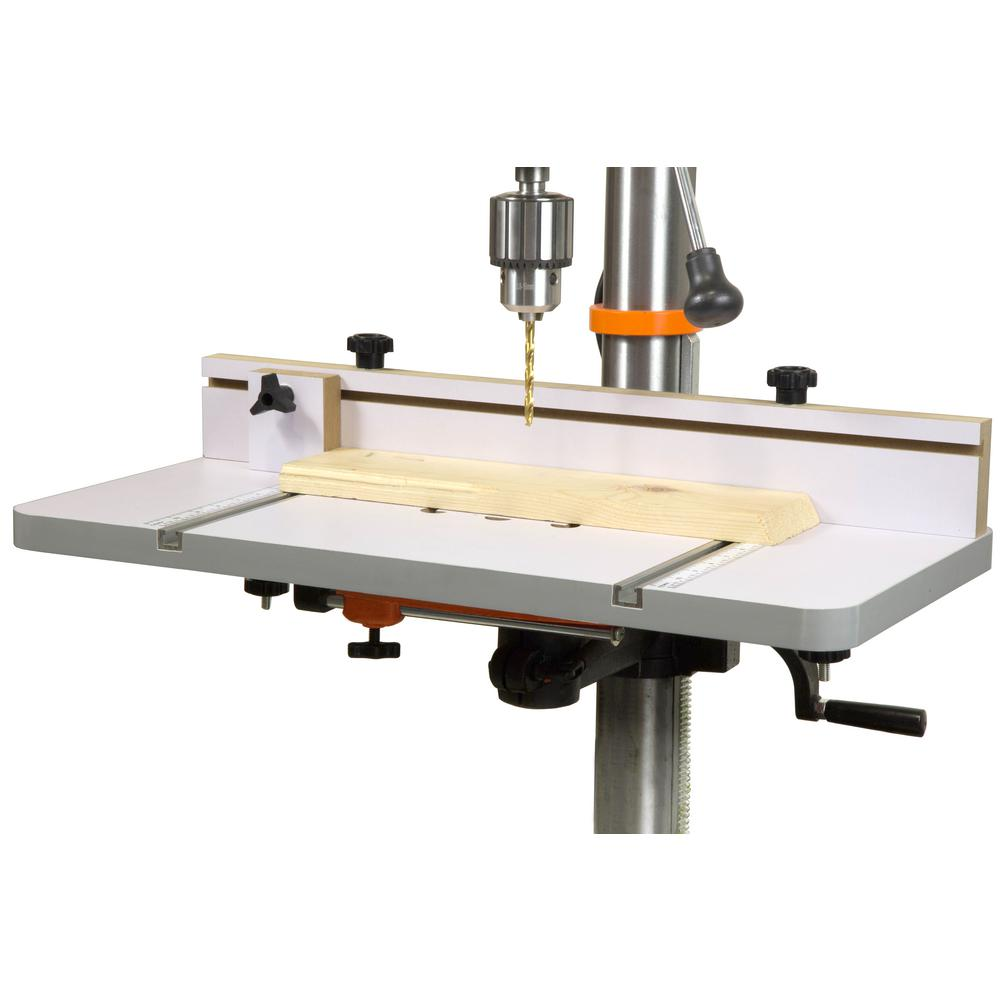 Wen 24 In X 12 In Drill Press Table With An Adjustable Fence And