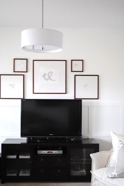 flourish design + style: framing a TV with a gallery wall | TV ...