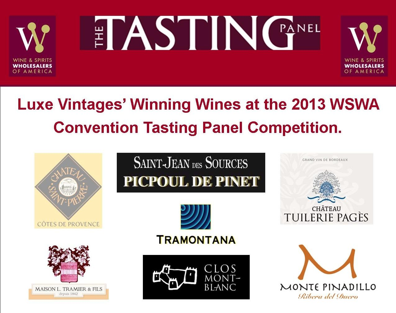 Luxe Vintages Winning Wines At Wswa Tasting Panel Competition Saint Jean Des Sources Picpoul De Pinet Chateau Sai Picpoul De Pinet Pinot Grigio Pierre Rose