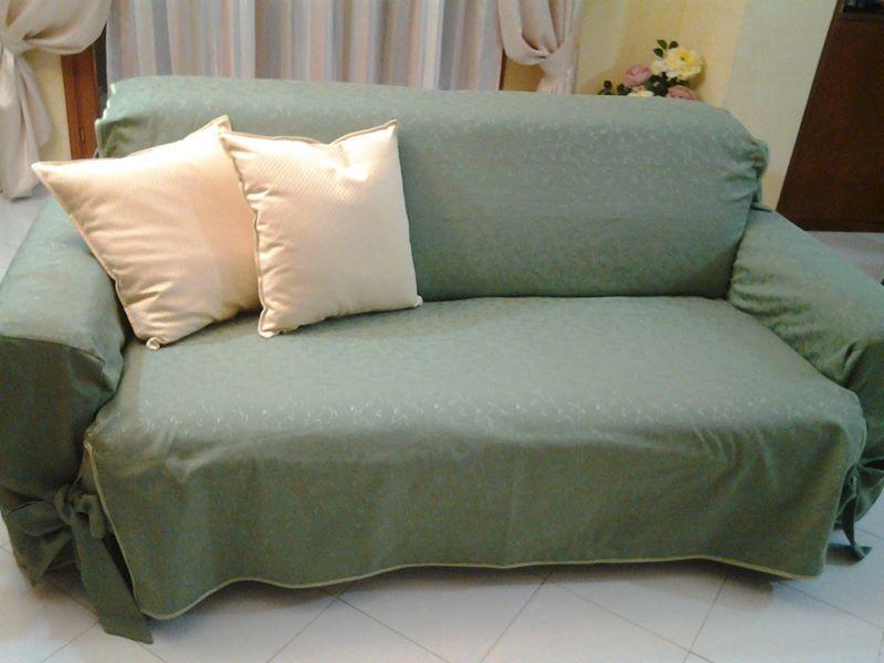 Copertura Divano ~ Copri divano in cotone lavabile cuscini coordinati complementi d