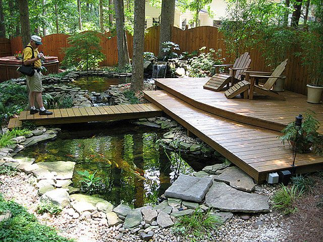 nice garden design decor ideas with koi pond