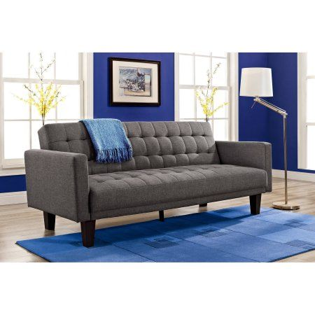Dorel Home Sienna Sofa Sleeper Gray