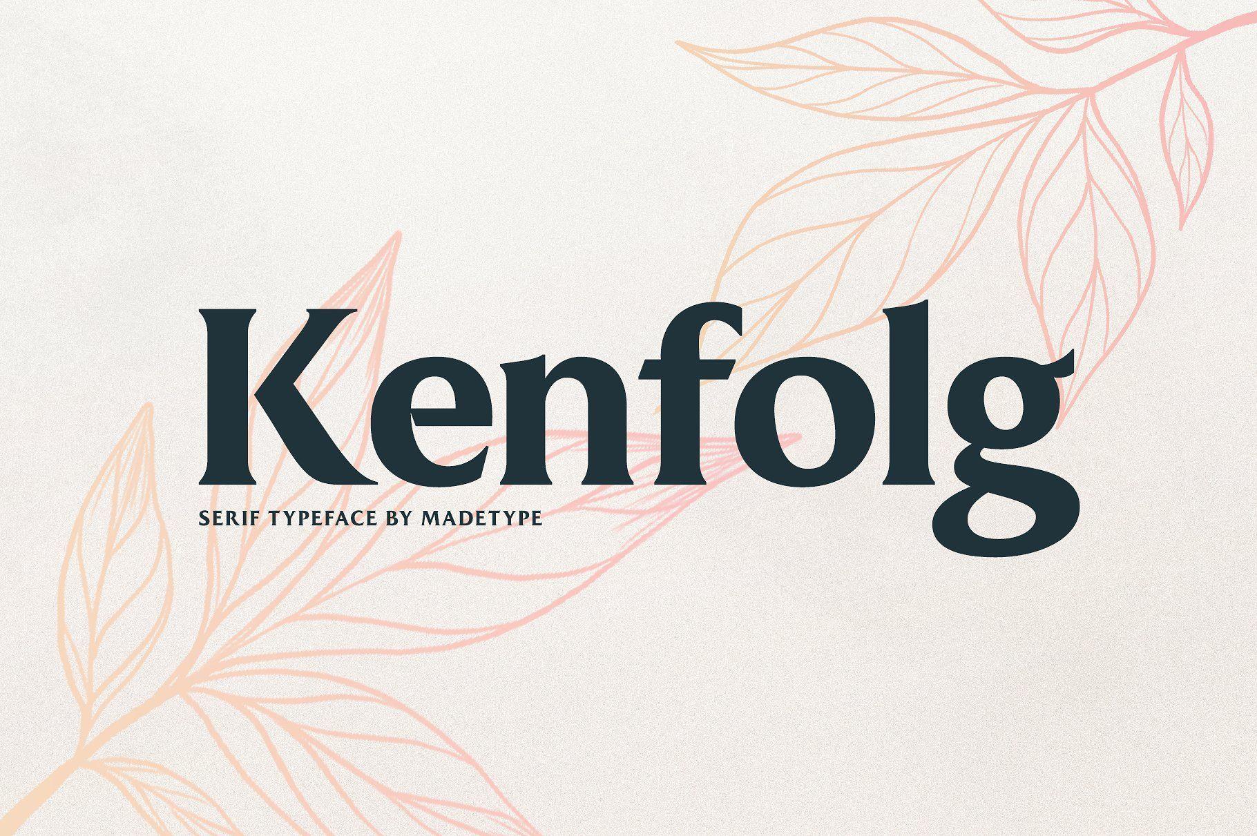 MADE Kenfolg Serif, Serif fonts, Blog header