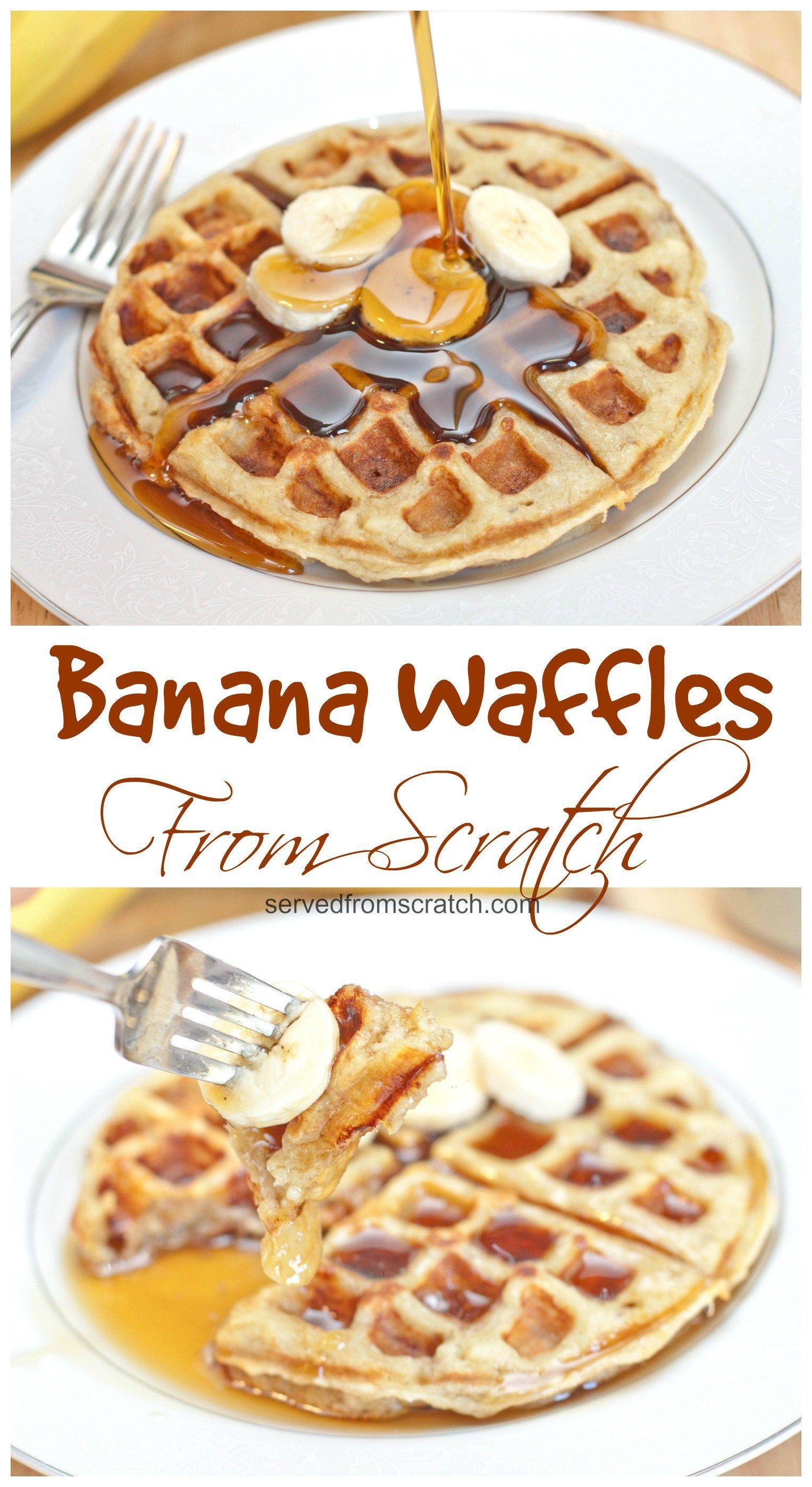 die besten 25 banana waffles healthy ideen auf pinterest. Black Bedroom Furniture Sets. Home Design Ideas