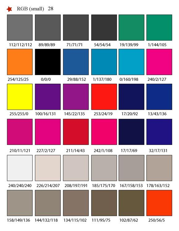 Printable Rgb Color Palette Swatches  Color Matching System For