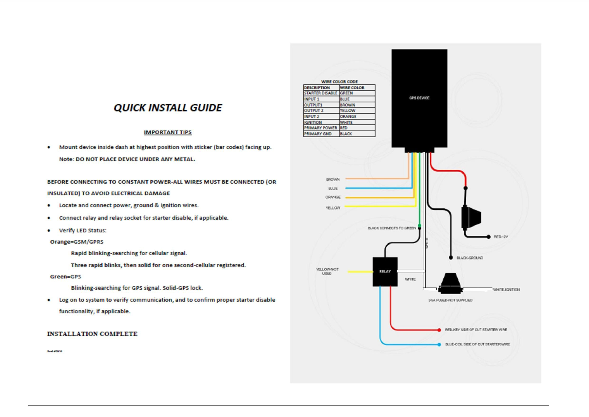 Tracking Gps Installation Wiring Diagram