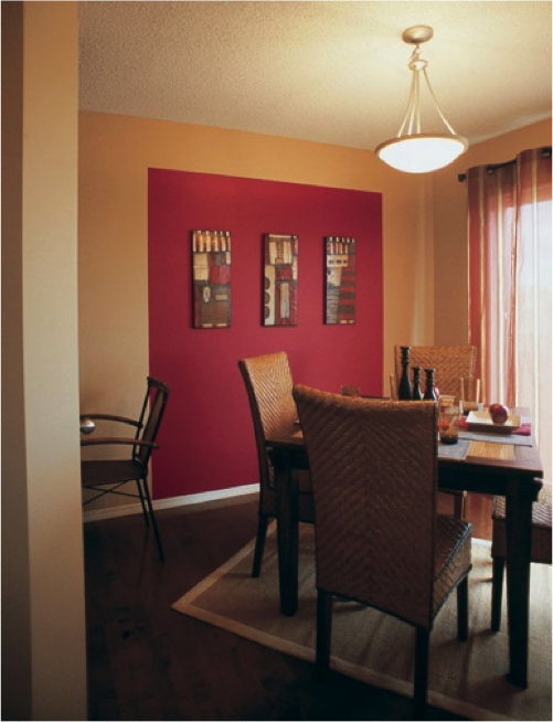 Dining Room Paint Ideas Pinterest: Sherwin-Williams Red Tomato (SW 6607) Accent Wall