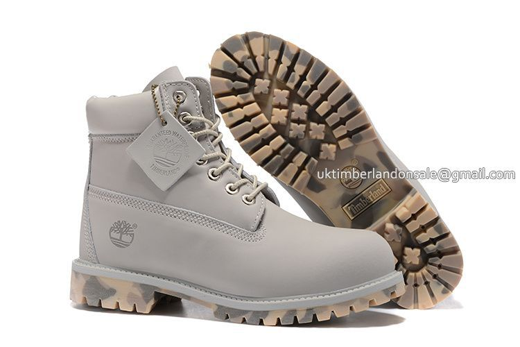 Timberland For Men's 6-Inch Premium Waterproof Grey Camo Boots