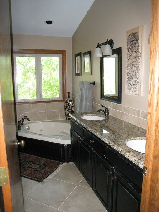Bath Remodel Granite Top Undermount Sinks Tile Backsplash Tile Amazing Bathroom Remodeling Wichita Ks