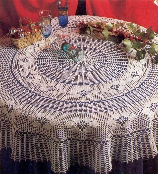 Materiales gráficos Gaby: Manteles en crochet varios modelos ...