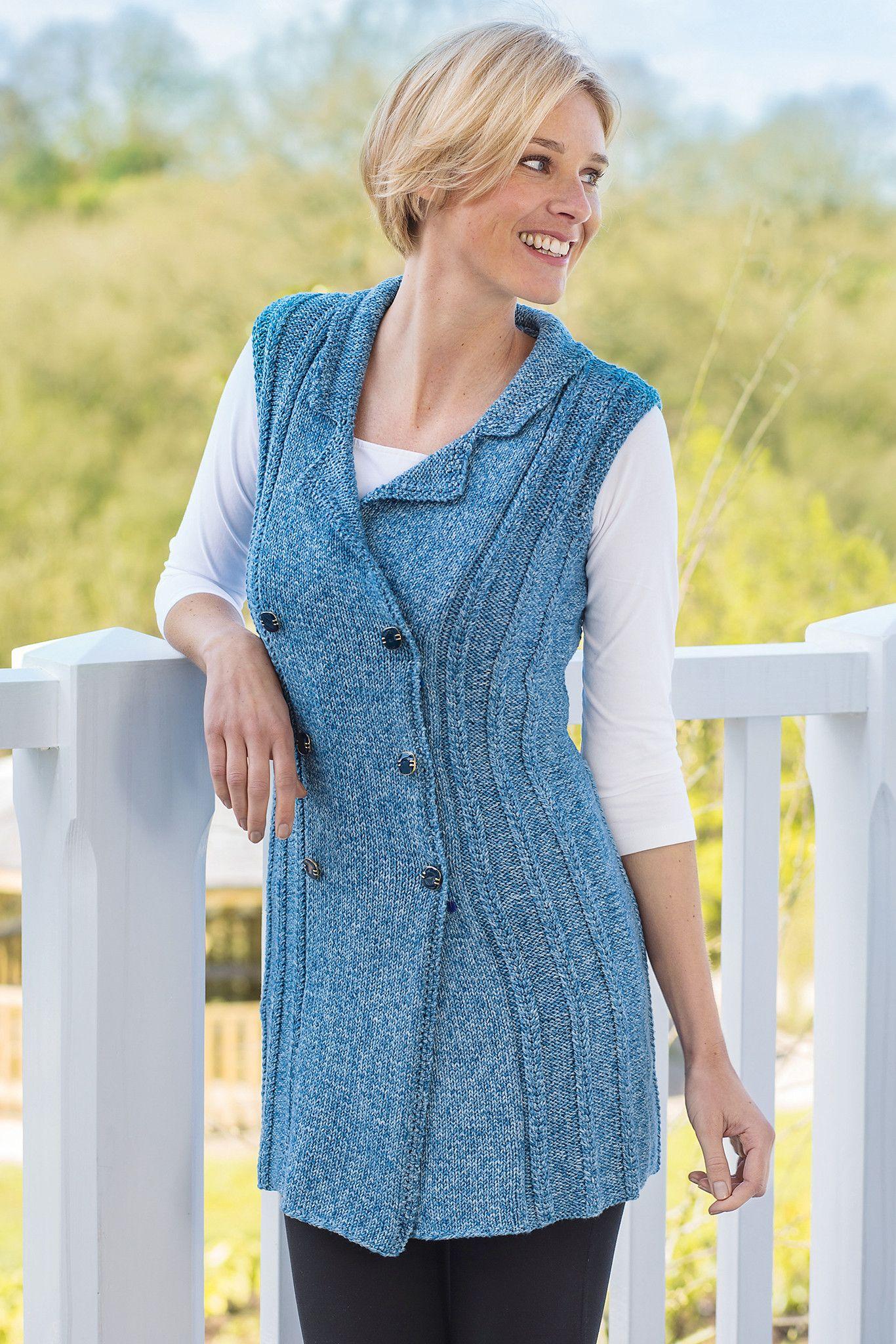 Roman Cable Ladies Waistcoat Knitting Pattern | Waistcoat ...