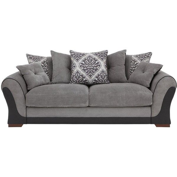 Modern Sectional Sofas Anais Seater Scatterback Sofa liked on Polyvore featuring home