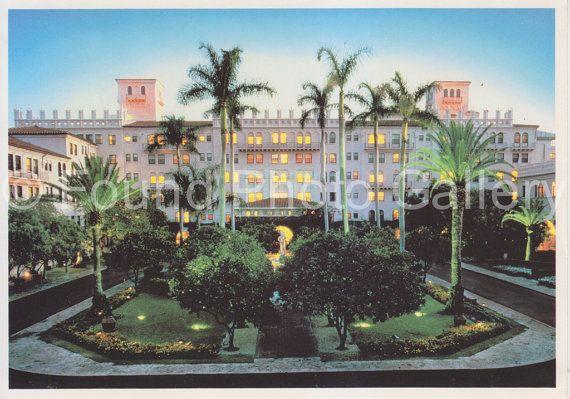 Vintage Postcard Boca Raton Resort Palm Trees by foundphotogallery