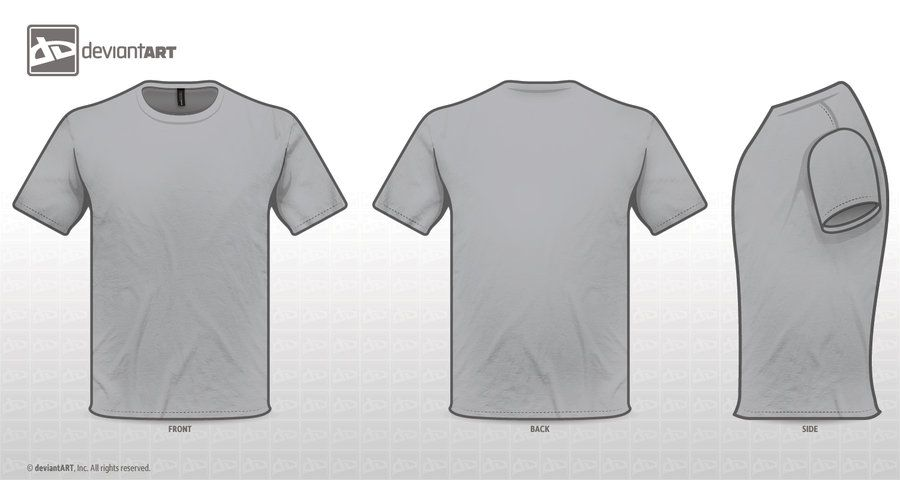 T Shirt Grey Template By Zombieabstract Deviantart Com On