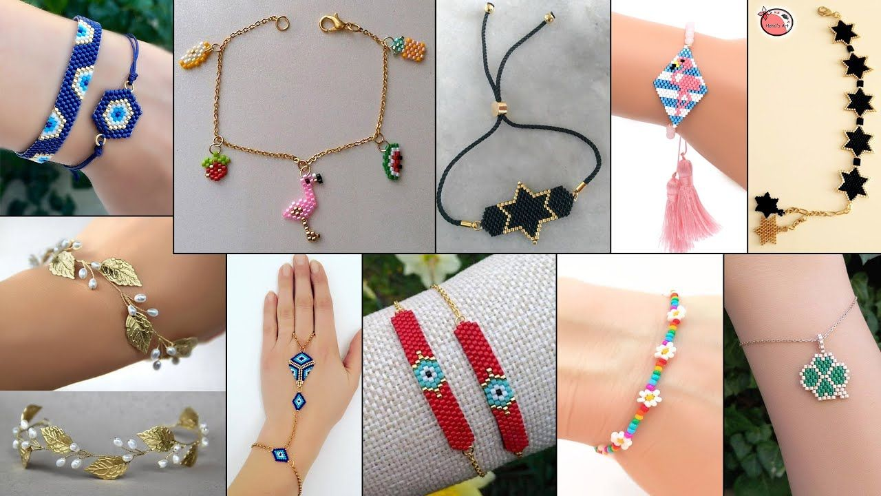 Fancy Girls Daily Wear Diy Bracelet Ideas For Jeanstop Kurtis Gowndresses Etc Youtube In 2020 Bracelet Tutorial Handmade Jewelry Fancy Girl