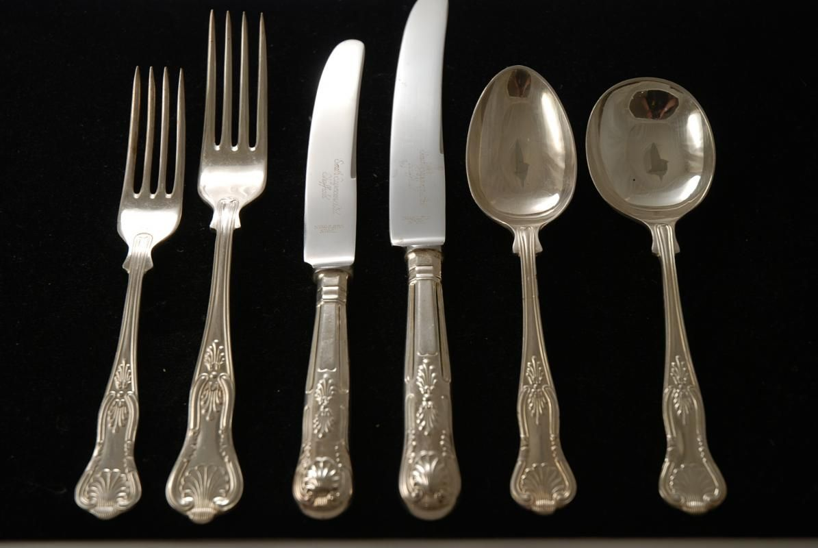 photos of silverware patterns silver plate flatware set in the kings pattern
