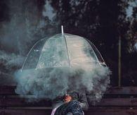 Smokey umbrella