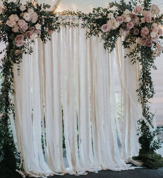 Cotton Lace Wedding Backdrop Pipe And Drape