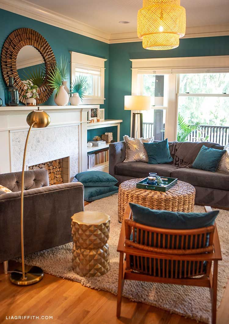 Tropical Living Room Inspiration Diy Decor Ideas Teal Living