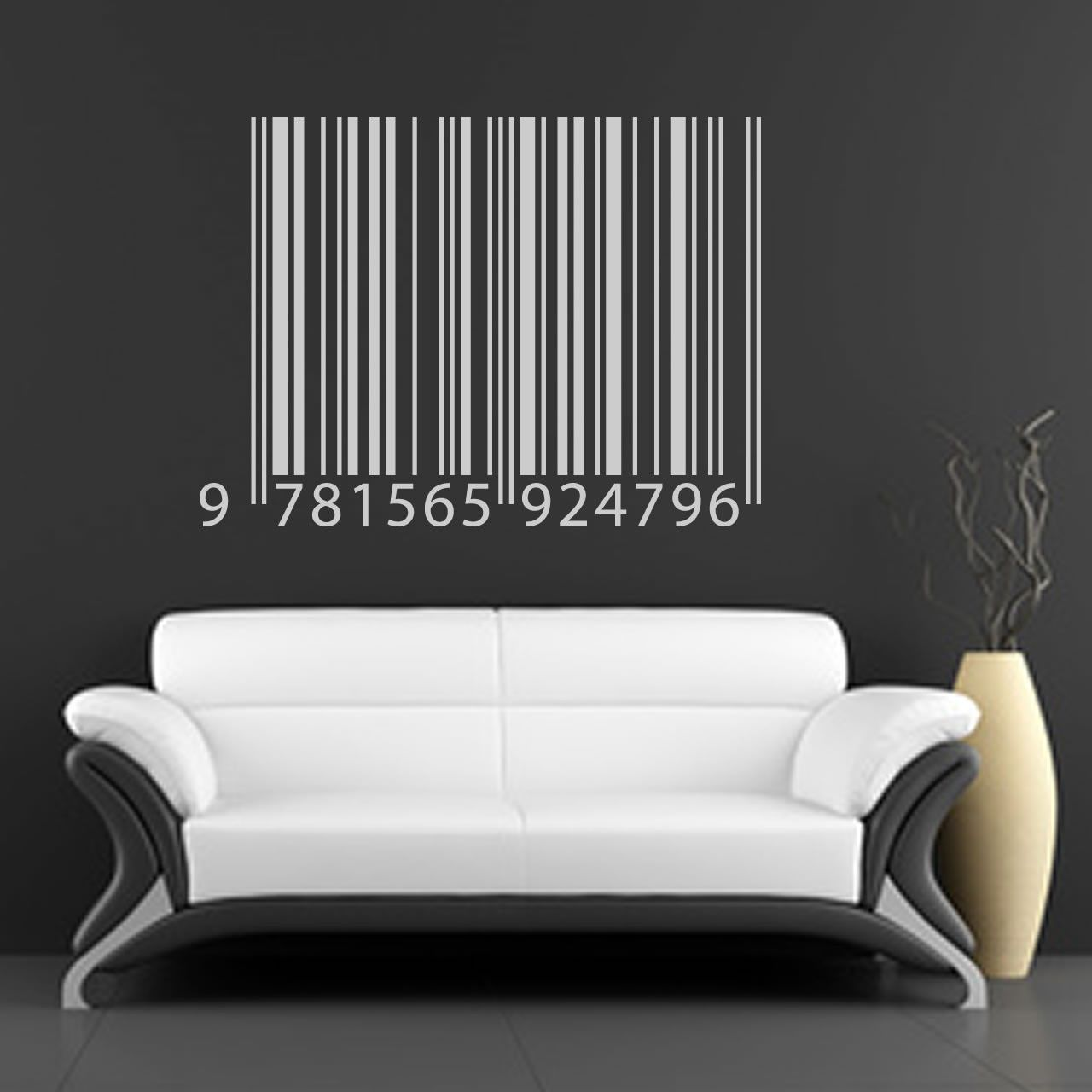 spartacus art wall stickers decals transfers barcode wall