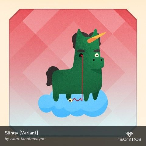"""Woot! I got a variant print, """"Slingy [Variant]"""", from Unicorn Empire by @isaac317 on @NeonMob - Check it out!"""