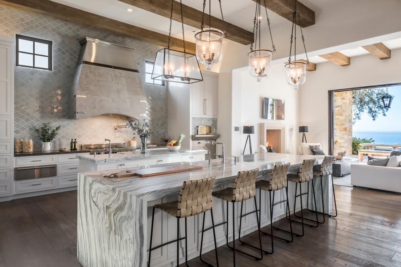 Amazing Kitchens 2018 Hgtv S Ultimate House Hunt Hgtv Dual Kitchen Islands Waterfall Island Kitchen Design Open Top Kitchen Designs Kitchen Design