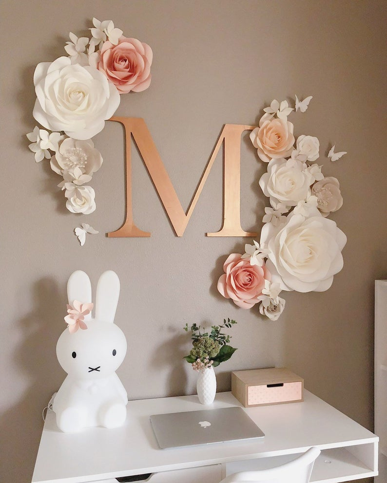 Paper Flowers Wall Decor Nursery Paper Flowers Set Wall Paper