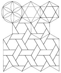 one Alhambra arrow tessellation, one Cairo tessellation