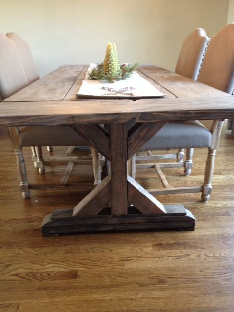 Custom Made Fancy X Farmhouse Table With Extensions