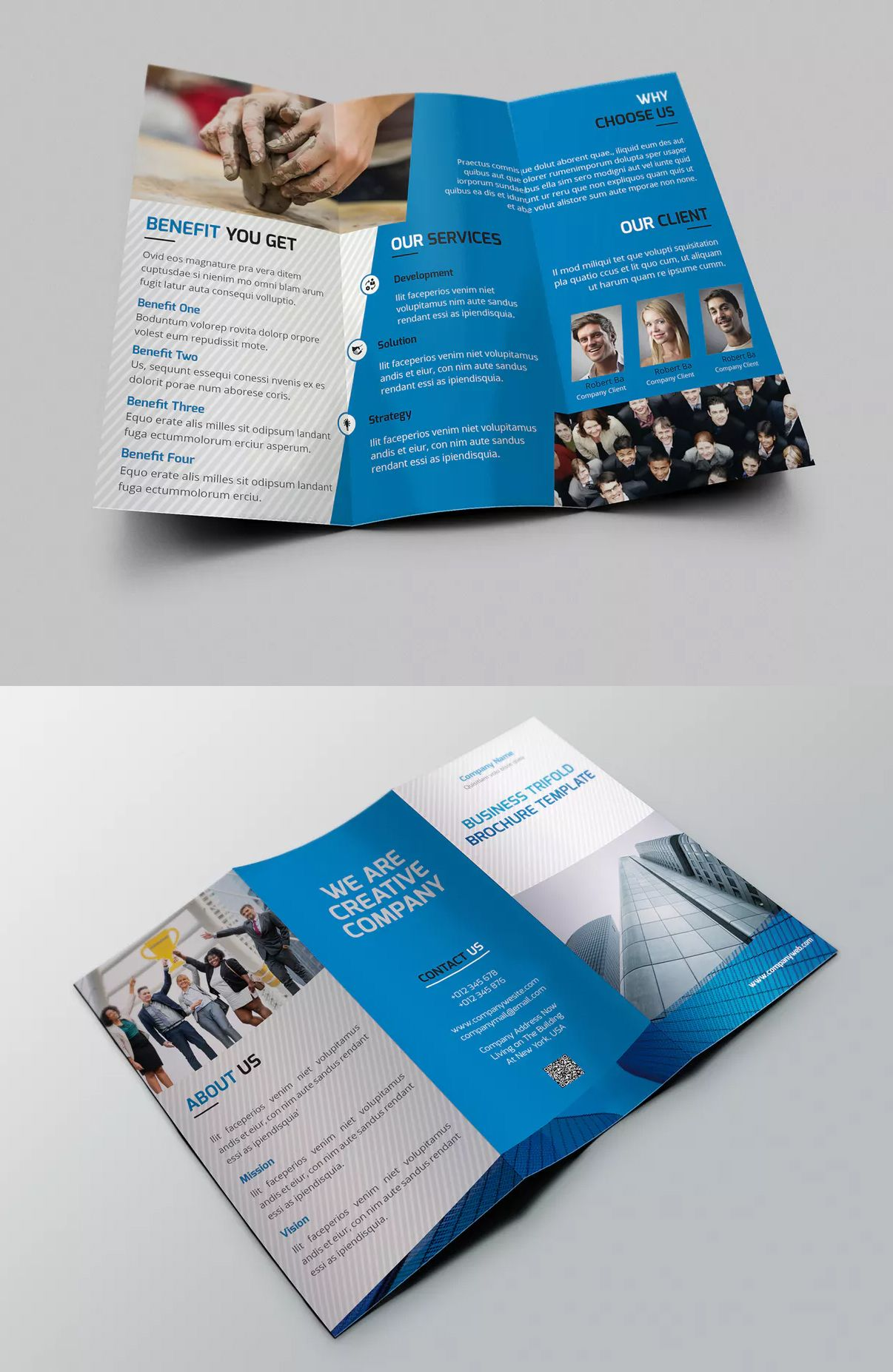 Company Tri Fold Brochure Template Indesign Indd Easy To