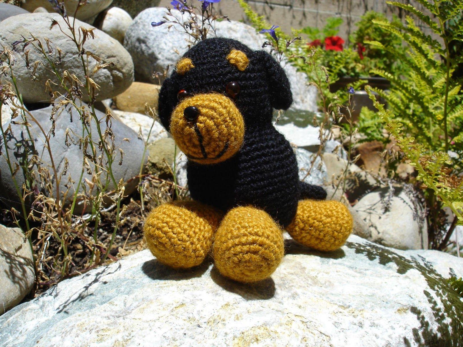 Amigurumi Lion Perritos : Rottweiler amigurumi rottweiler amigurumi and free pattern