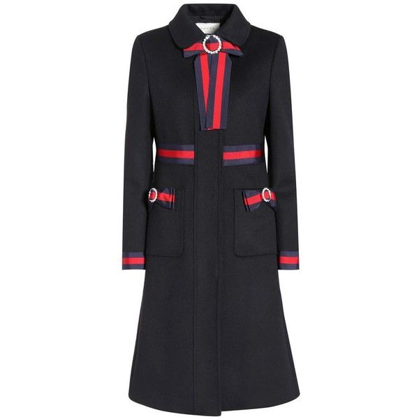 Gucci (12,450 SAR) ❤ liked on Polyvore featuring coats