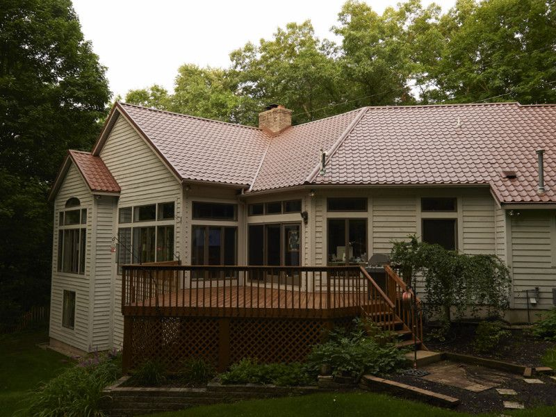 Best Tile Brick Blend Metal Roof Colors 400 x 300