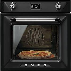 Buy Smeg Victoria SFP6925NPZE1 Single Built In Electric Oven - Black | Marks Electrical