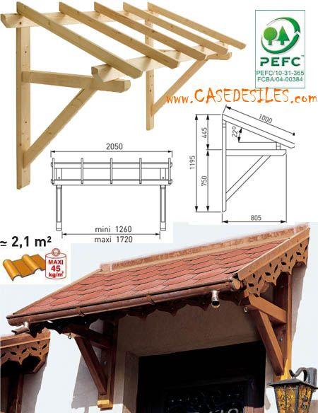 Auvent en bois en promotion auvent bois porte et fen tre - Marquise pour porte de garage ...
