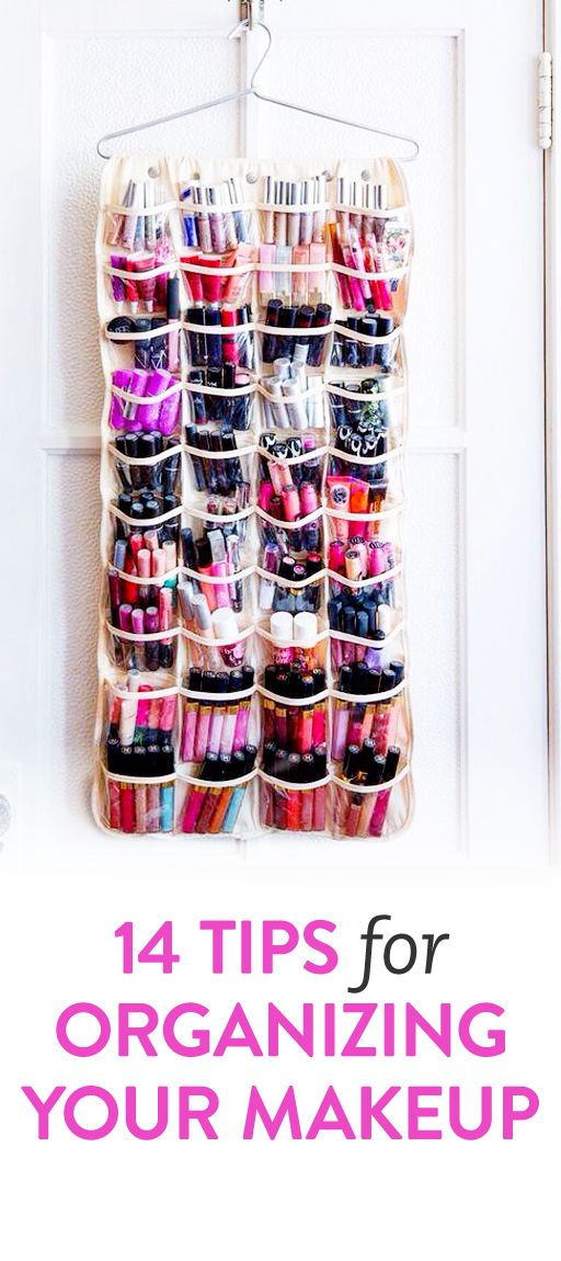 DIY Tips For Organizing Your Makeup   The Shoe Rack Needs To Happen