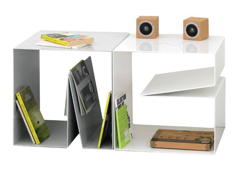 Estantería modular de aluminio NOTCH PLUS Colección Notch by Ex.t   diseño Alex Bradley