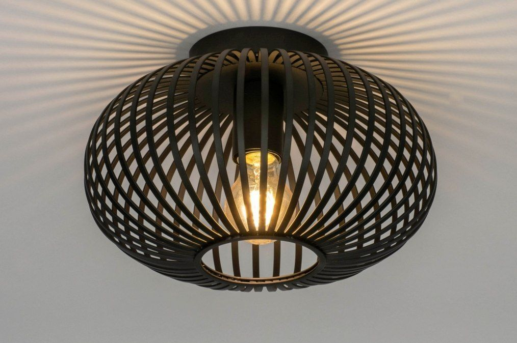 Plafondlamp 73295 modern retro metaal zwart 0