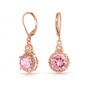 Rose Gold #Earrings -- pink on #pink!