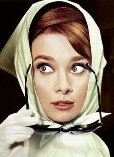Would like to wear a head scarf and sunglasses like this one day, don't think I'll pull it off like Audrey though