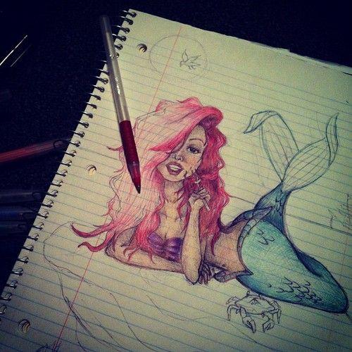 Ariel Drawings Tumblr Ec1645207f848ab9c54332147aec11 ...