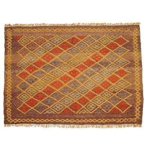 Vintage Mulberry Turkish Kilim 3' x 2'2 Kilim rugs