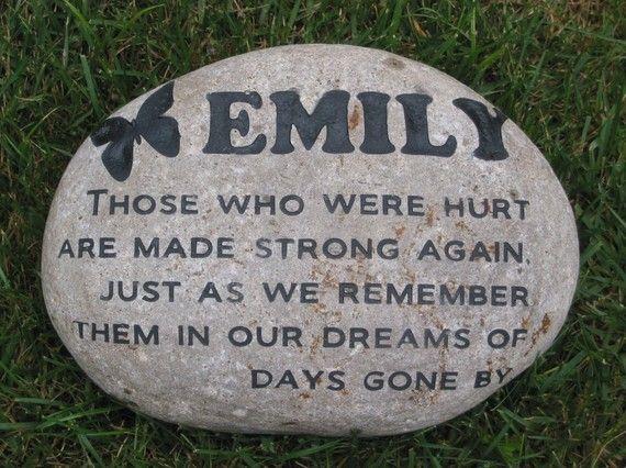 Custom Engraved River Stone Rock Memorials