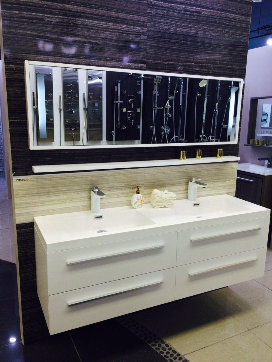 Aqua Decor Magnum 63 Double Sink Modern Bathroom Vanity Set