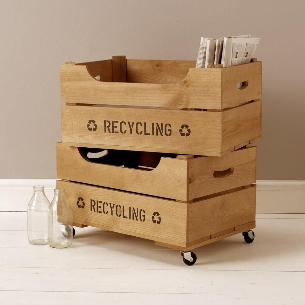 Large Storage Crate With Lip