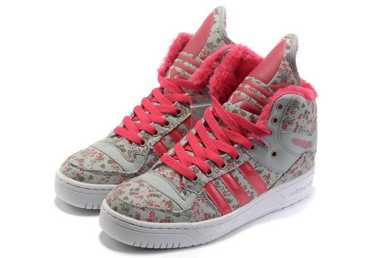 4e1a841f845 Wholesale Cheap Girl Adidas M Attitude Big Tongue Monogram Shoes Red  Fashion Shoes Store