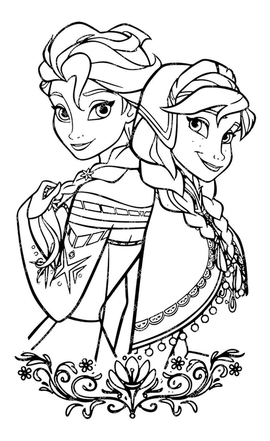 Elsa and Anna Svg Files Disney Princess Elsa and Anna