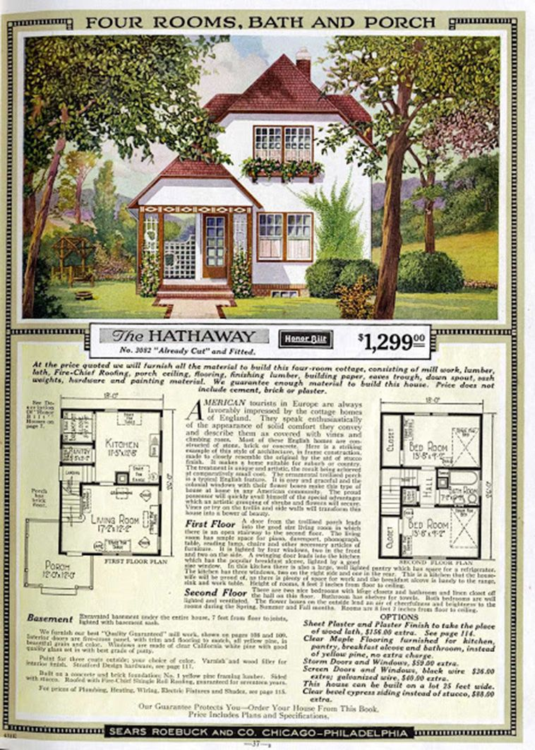 Sears Catalog Kit Homes From The Early 20th Century In 2020 Vintage House Plans Sims House Plans Craftsman House